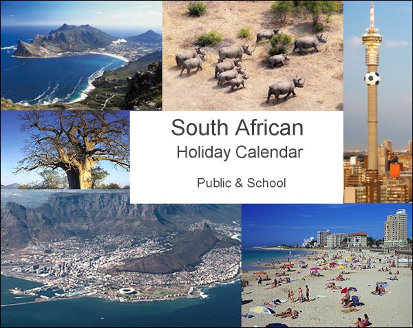 South African Holidays